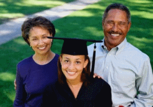 image of College Graduate and Parents