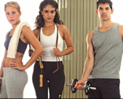Image of people workingout